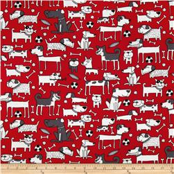 Kanvas Yard Dog Red Fabric
