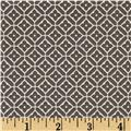 Quartette Collection Medallion Trellis Grey