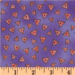 Laurel Burch Basics Triangle Purple Fabric