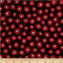 Kanvas Tempo Posey Black/Red Fabric