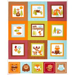 Riley Blake Happy Camper Panel Multi