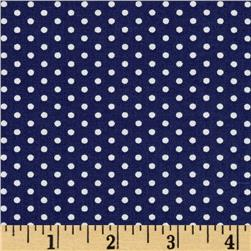 Kaufman Spot On Pindot Navy
