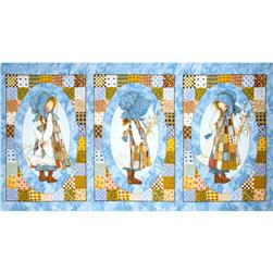 Holly Hobbie Flannel Panel Cameos Blue