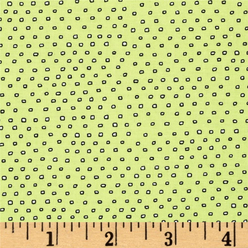 Pixie Square Dot  Lime