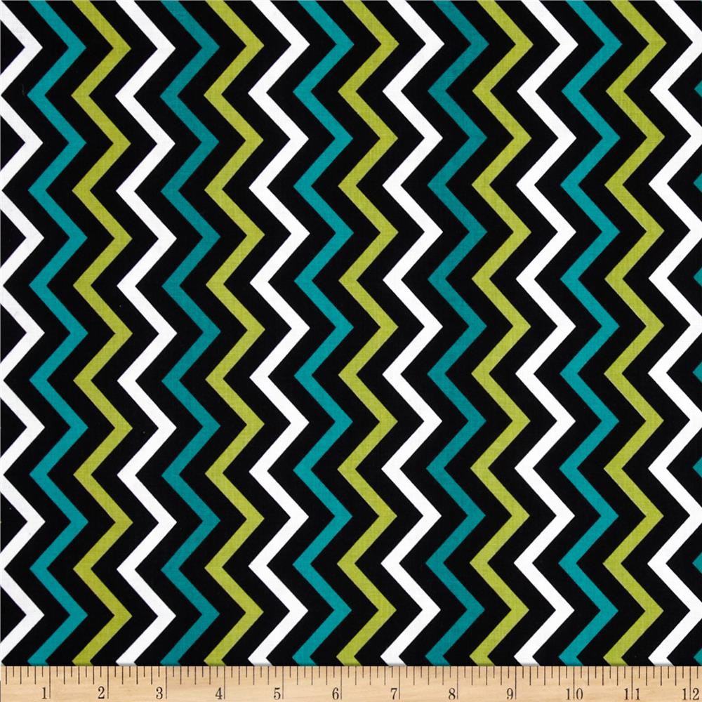 Michael Miller Mini Chic Chevron Lagoon