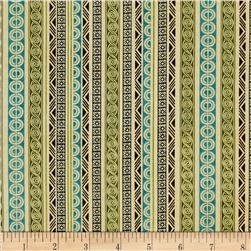 Tropical Travelogue Decorative Geometric Stripe Cream/Multi