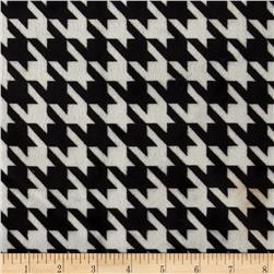 Minky Houndstooth Silver/Black Fabric