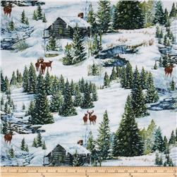Winter Stillness Flannel Scenic Multi
