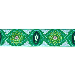 2'' Amy Butler Brocade Ribbon Emerald/Blue