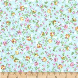 Timeless Treasures Soleil Mini Floral Sky Fabric