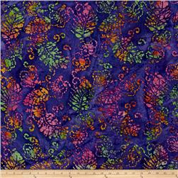 Indian Batik Jewel Box Leaf Purple/Pink/Green