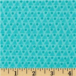 Floral Fairground Triangles Turquoise