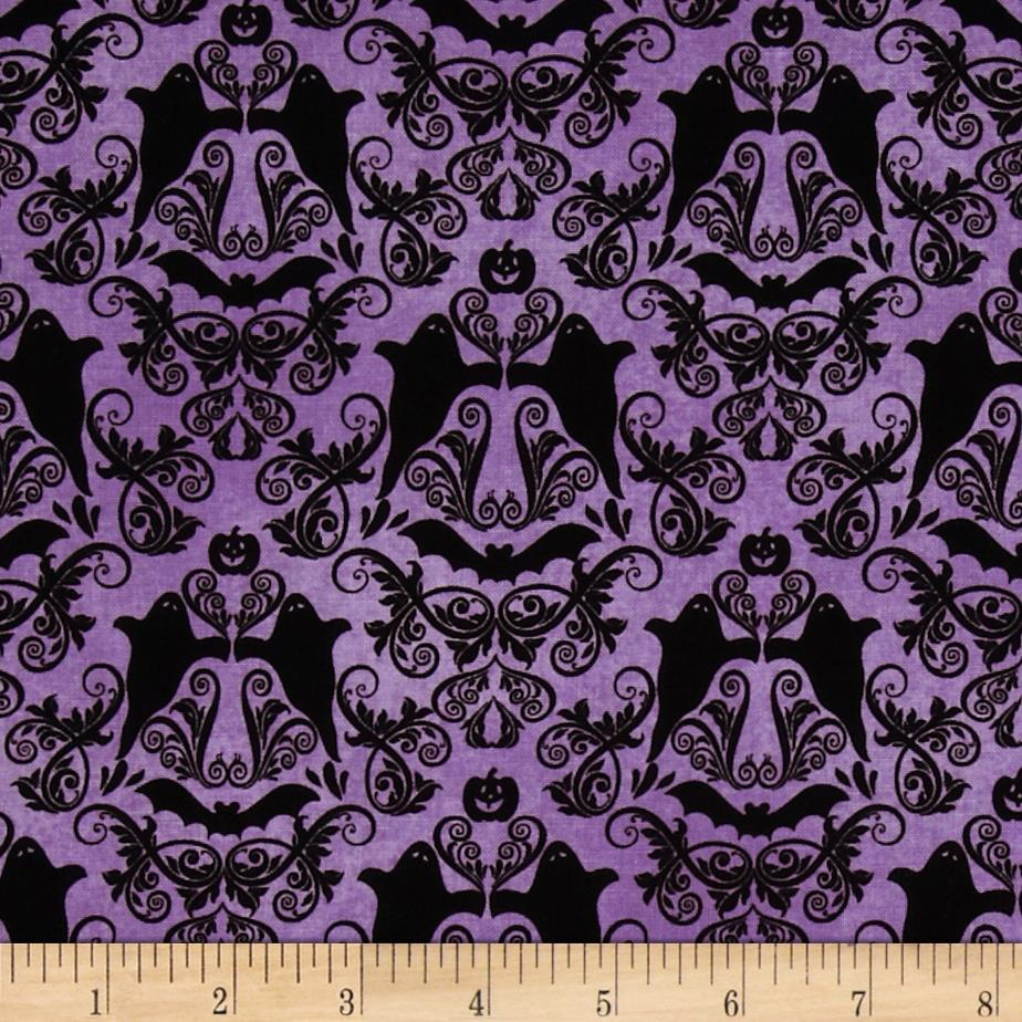 Hocus Pocus Halloween Damask Purple Discount Designer
