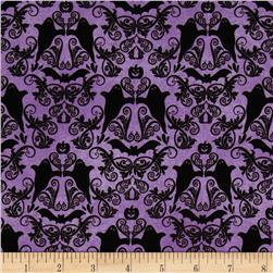 Hocus Pocus Halloween Damask Purple