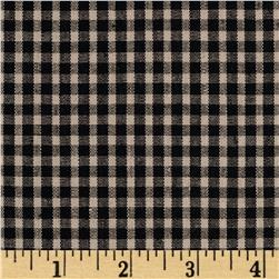 Stretch Yarn Dyed Shirting Check Black/Tan