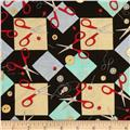 Sew Fun! Tossed Scissors Black