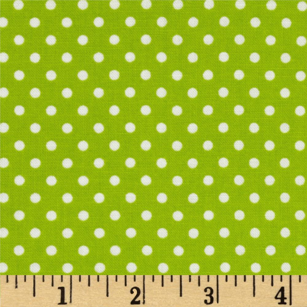 Moda Dottie Small Dots Summer Lime