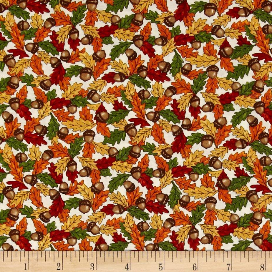Moda Forest Fancy Acorns & Leaves Cream