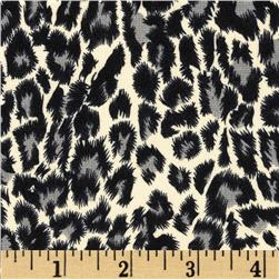 Milano Double Knit Leopard Black/Cream