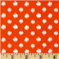 Cotton/Lycra Spandex Jersey Knit Abstract Dot Orange