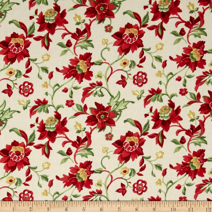 Crimson & Holly Medium Floral Ivory