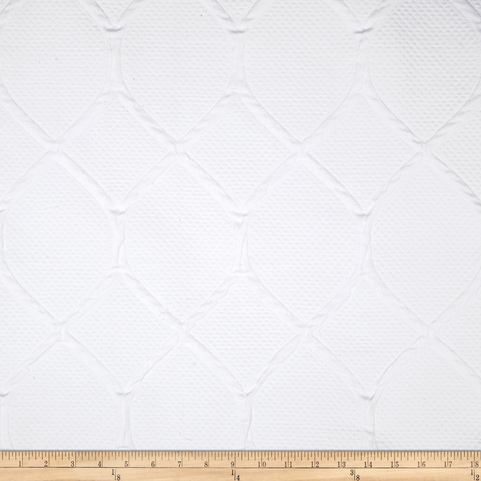 Robert Allen Scrolled Geo Matelasse White Fabric