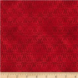 Winter Celebration Snowflake Geo Red