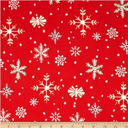 Susybee Christmas Snow Flakes Red