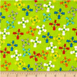 Comfy Flannel Propellers Green