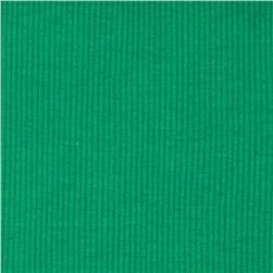 Basic Cotton Rib Knit Caribbean Green