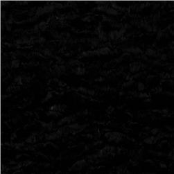 Urban Home Ripple Plush Fur Black