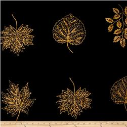 Timeless Treasures Batik Tonga Chai Large Spaced Leaves Panel Leaf