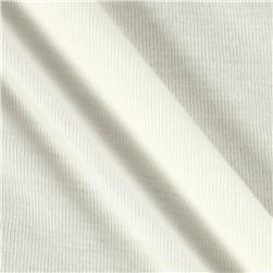 White Collection Fine Rib Knit Off White