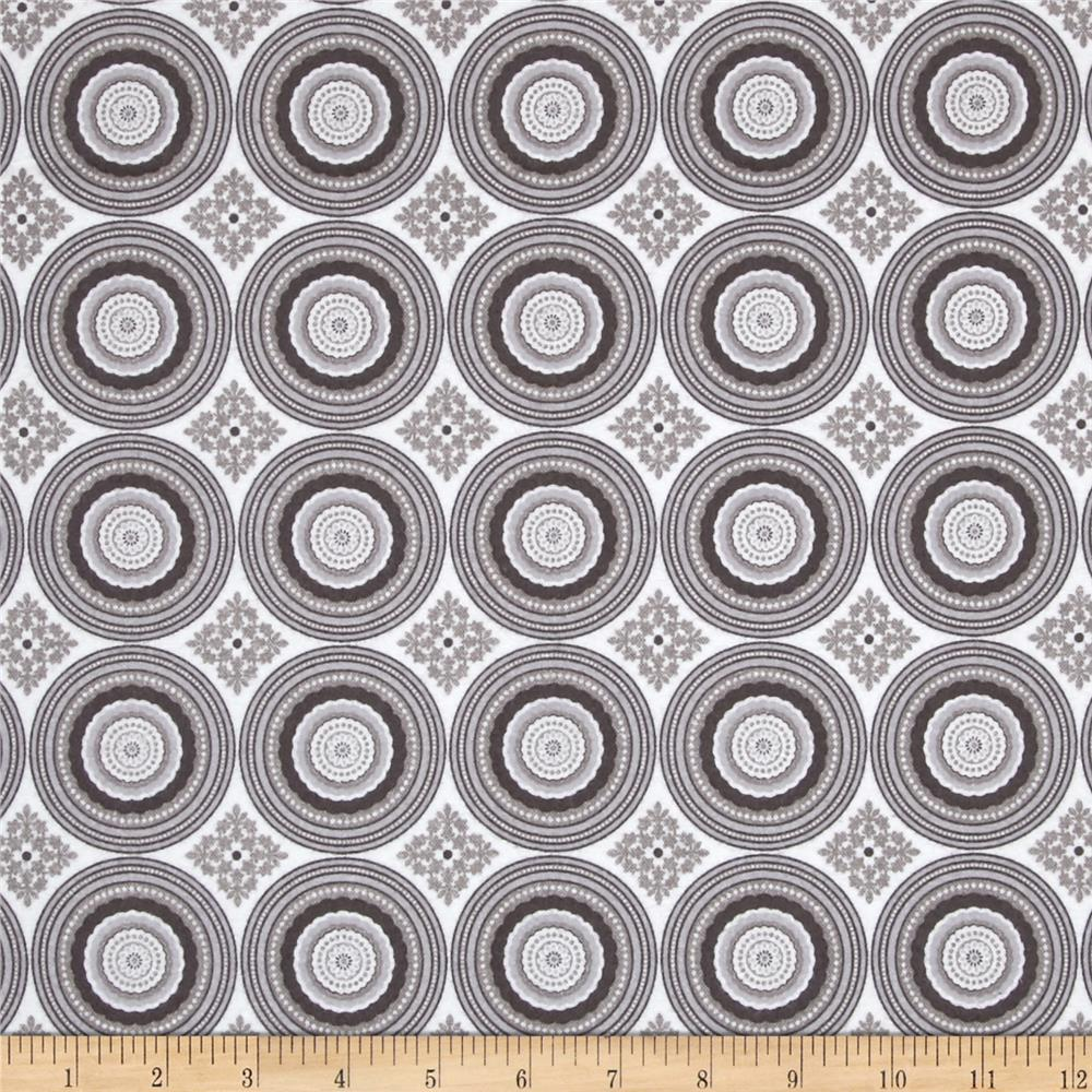 Riley Blake Parisian Flannel Medallion Gray