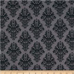Black Magic Damask Black
