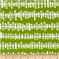 Kaufman Blueberry Park Zipper Stripe Lime