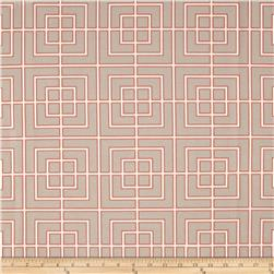 Dwell Studio Indoor/Outdoor Fretscene Coral Fabric