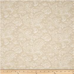 "108"" Wide Quilt Back News Paisley Floral Cream"