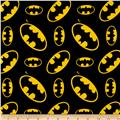 DC Comics Batman Tossed Logo Flannel Multi