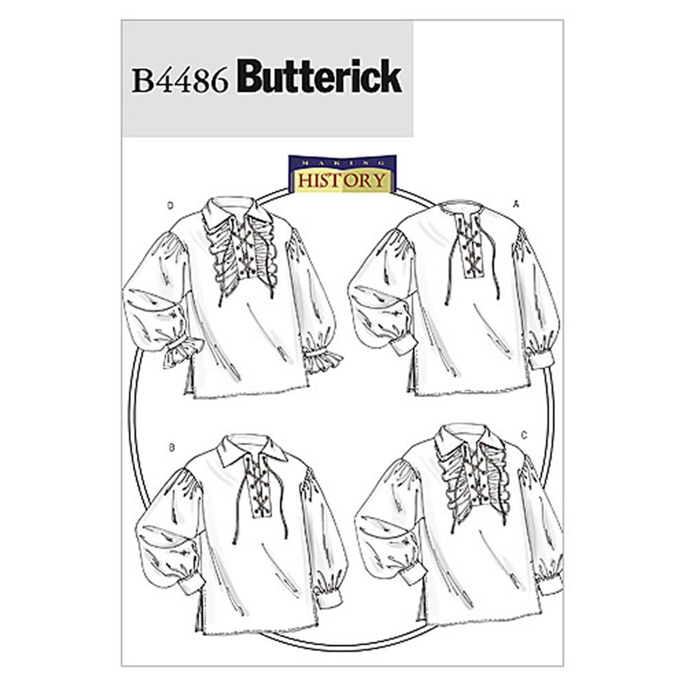 Butterick Men's/Misses' Shirt Pattern B4486 Size XM0