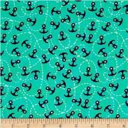 Michael Miller The Littles Little Anchors Sprout Fabric