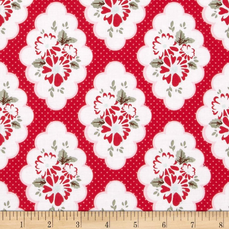 Riley Blake Wiltshire Daisy Floral Red