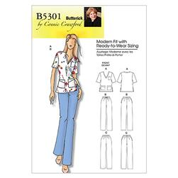 Butterick Misses'/Women's Top and Pants Pattern B5301 Size MIS