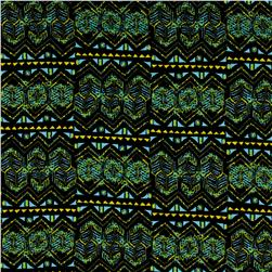 ITY Printed Abstract Aztec Neon Green