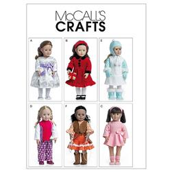 "McCall's Clothes For 18"" Doll Pattern M6257 Size OSZ"