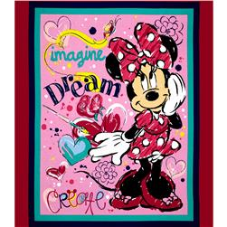 Disney Minnie Bowtique Imagine Dream Create Panel Pink