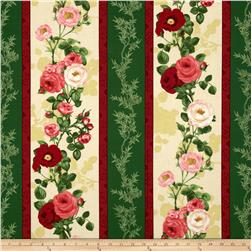 Bouquet Moderne Roses Repeating Stripe Green/Multi