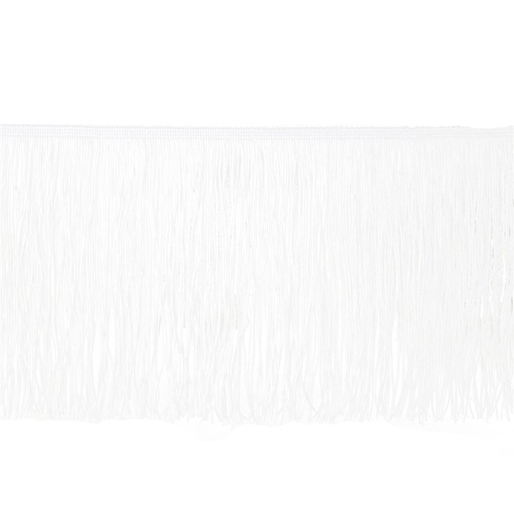 "8"" Chainette Fringe Trim White"