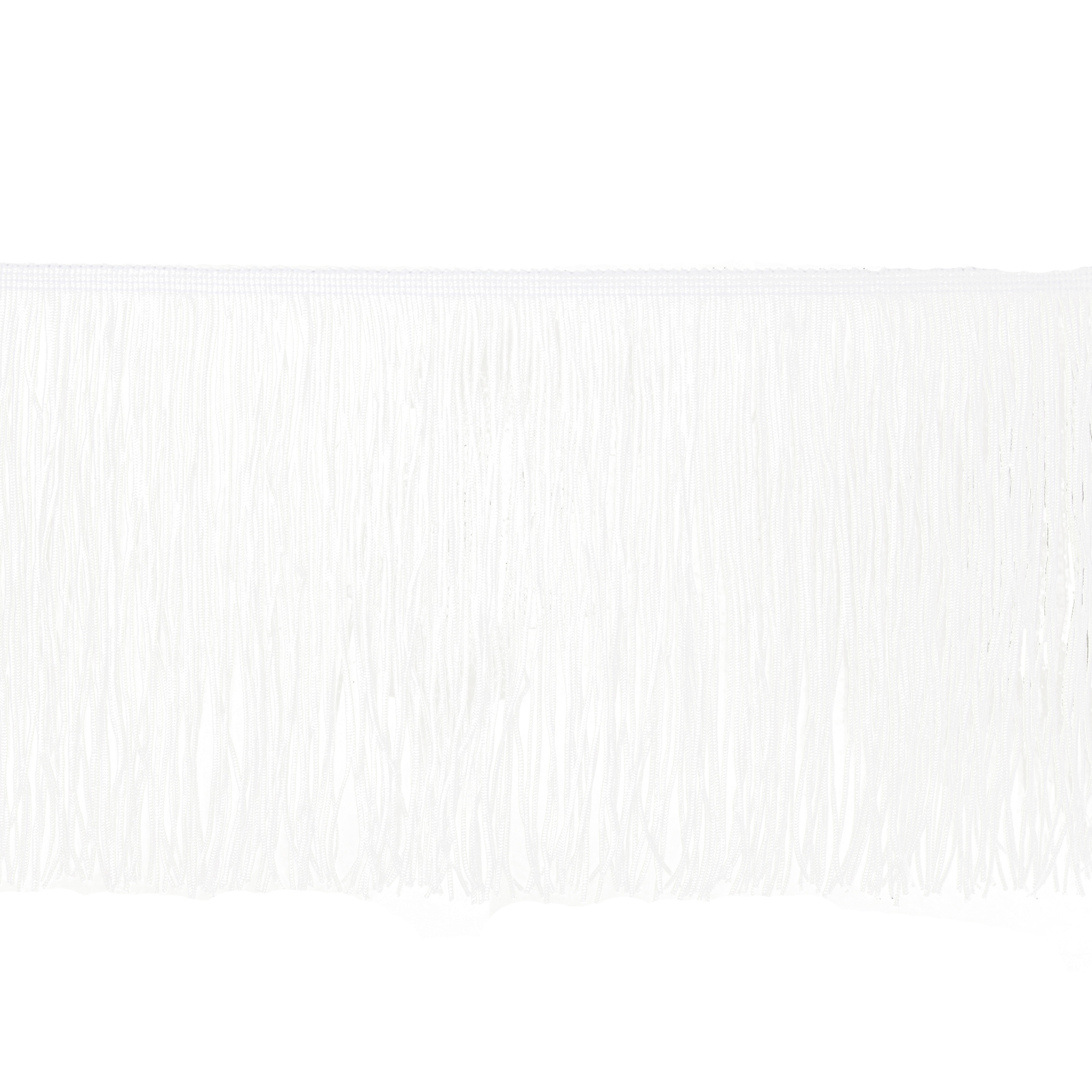 8'' Chainette Fringe Trim White by Expo in USA