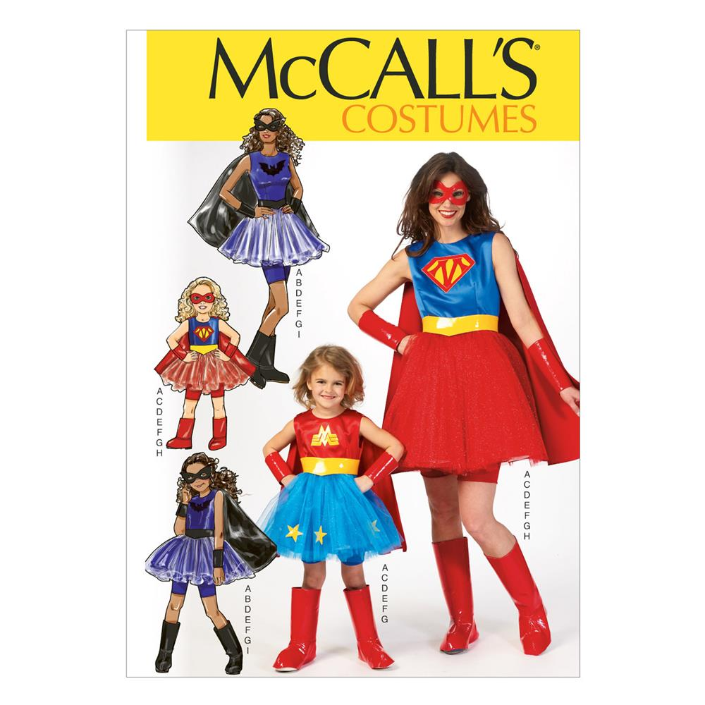 McCall's Misses'/Children's/Girls' Costumes Pattern M7001 Size KID